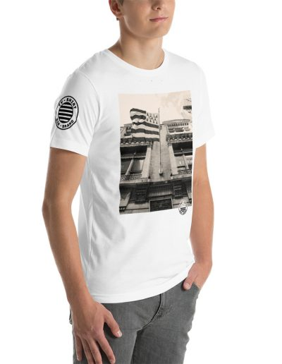 Ty Shirt-White-Buidling_Right-Front_Mens_White